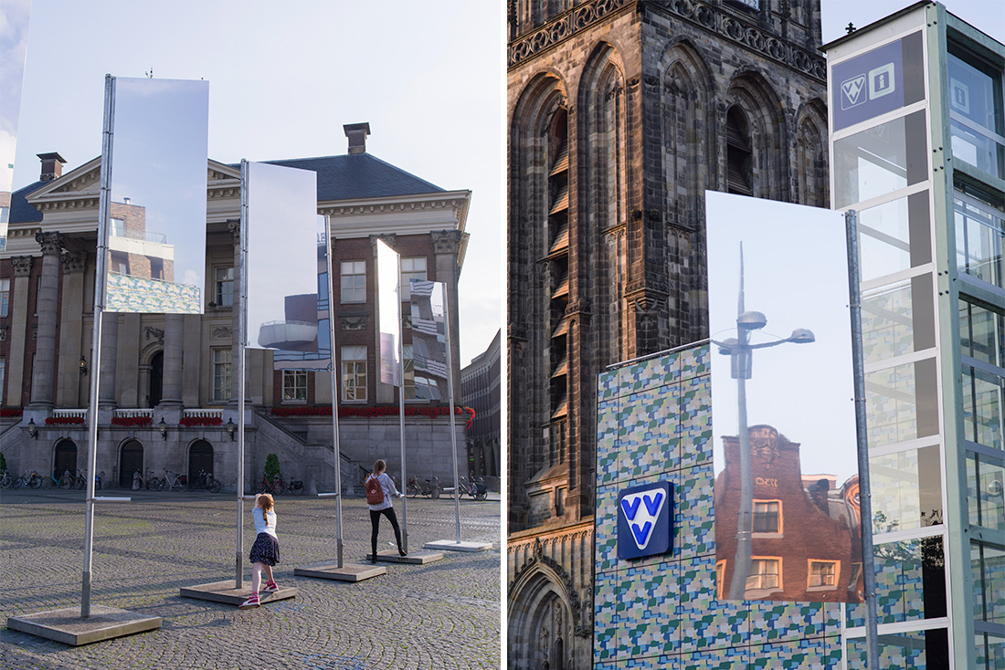 REflags, interactive installation in public space