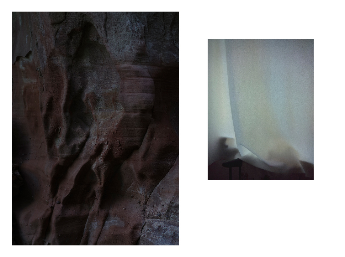 folds I and II, digital photographs from the serie under a nameless moon by Sarah Janssen